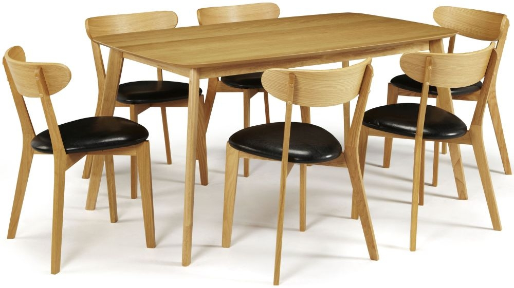 Serene Westminister Oak Dining Set - 150cm with 6 Newham Chairs