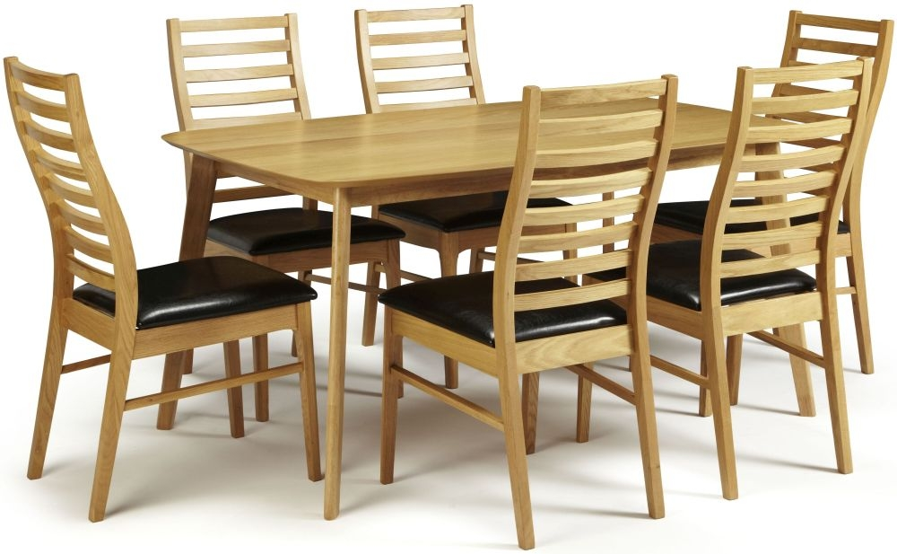 Serene Westminister Oak Dining Set - 150cm with 6 Wandsworth Chairs