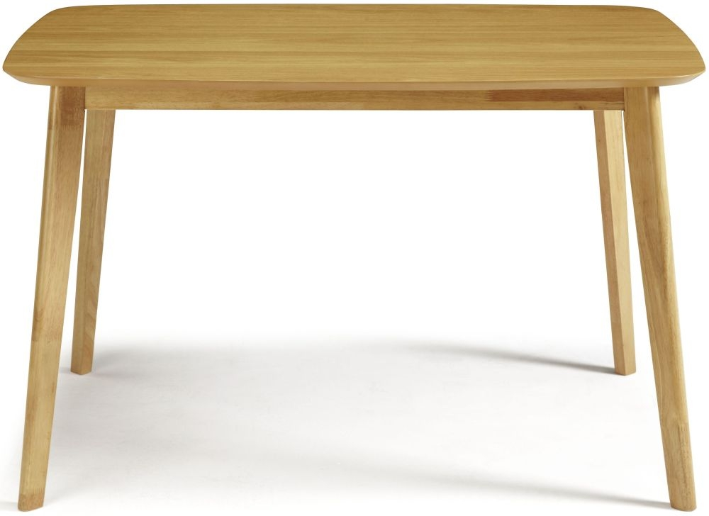 Serene Westminister Oak Dining Table - 120cm Fixed Top