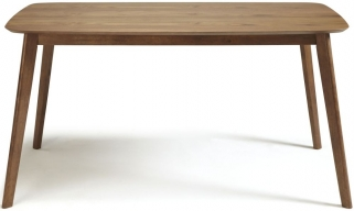 Serene Westminister Walnut Dining Table - 150cm Fixed Top
