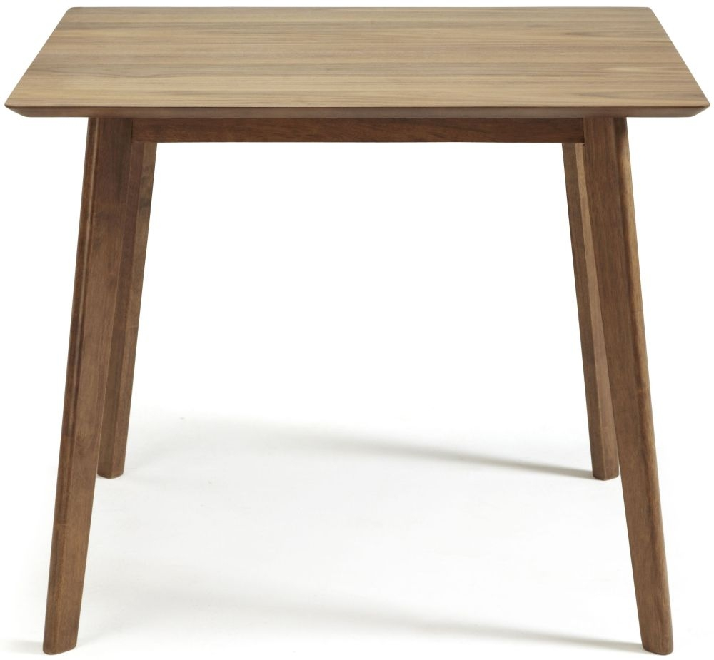 Serene Westminister Walnut Dining Table - 90cm Fixed Top