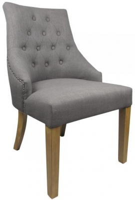 Shankar Camberwell Fabric Chair - Grey