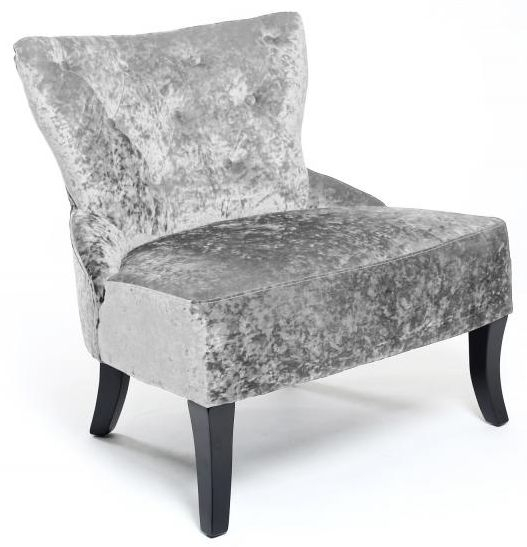 Shankar Belgravia Crushed Velvet Chair - Silver