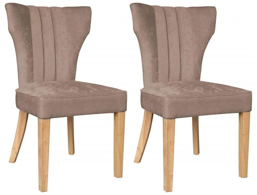 Shankar Vienna Fabric Chair - Mink (Pair)
