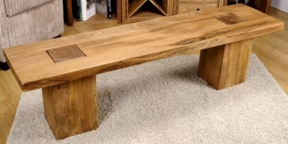 Shankar Alwar Acacia Bench - Medium