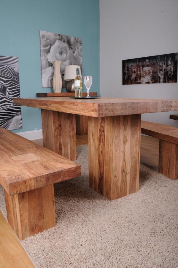Shankar Alwar Acacia Dining Table - Medium
