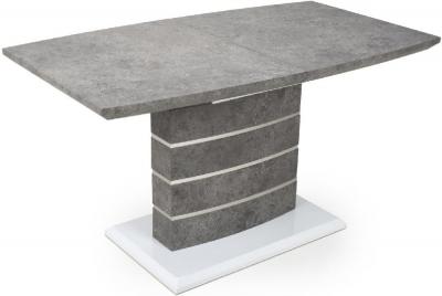Shankar Atlas Grey and White Granite Effect 140cm-180cm Extending Dining Table