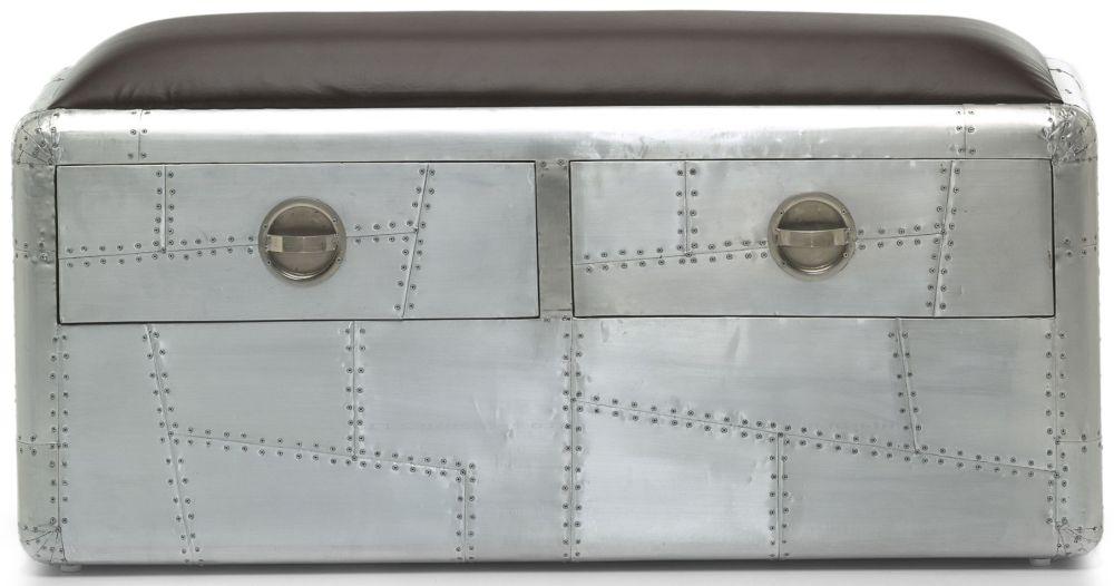 Shankar Aviator 2 Drawer Bench