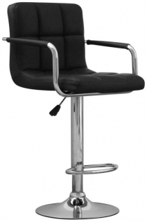 Shankar Appleby Leather Match Bar Stool - Black (Pair)