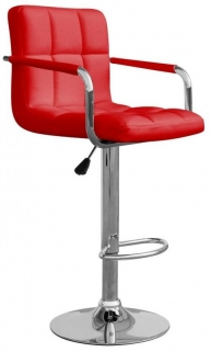 Shankar Appleby Leather Match Bar Stool - Red (Pair)