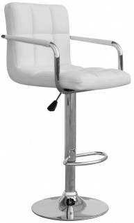 Shankar Appleby Leather Match Bar Stool - White (Pair)
