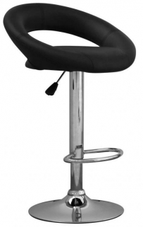 Shankar Aurora Leather Match Bar Stool - Black (Pair)