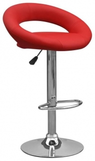 Shankar Aurora Leather Match Bar Stool - Red (Pair)