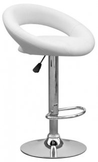 Shankar Aurora Leather Matc Bar Stool - White (Pair)