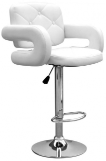 Shankar Colby Leather Match Bar Stool - White (Pair)