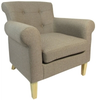 Shankar Brown Pittsburgh Herringbone Plain Armchairs
