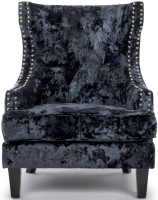 Shankar Majesty High Grade Black Crushed Velvet Armchair