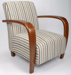 Shankar Restmore Stripe Chair - Duck Egg Blue