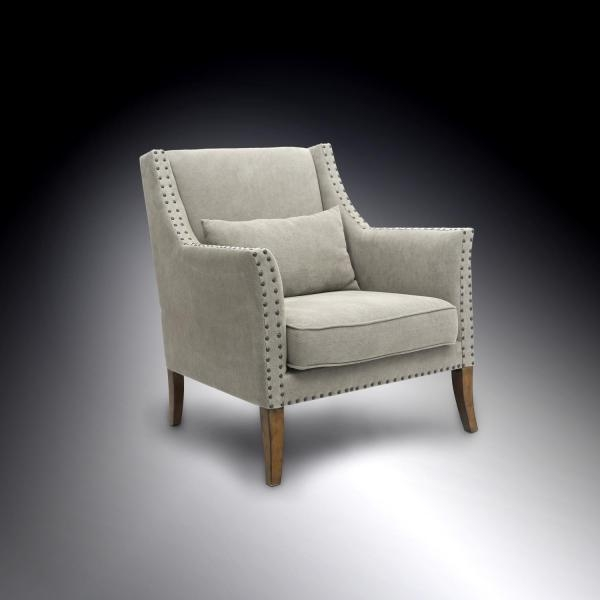 Shankar Chadley Fabric Armchair - Natural