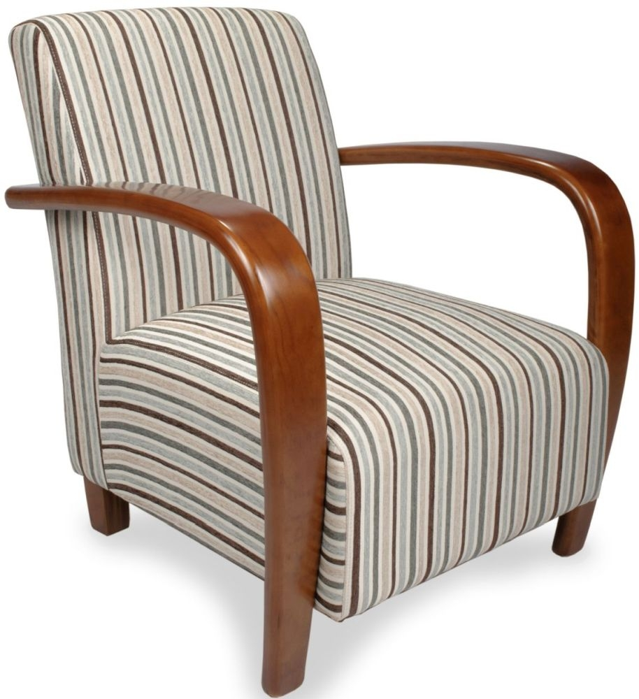 Shankar Duck Egg Blue Restmore Stripe Armchairs