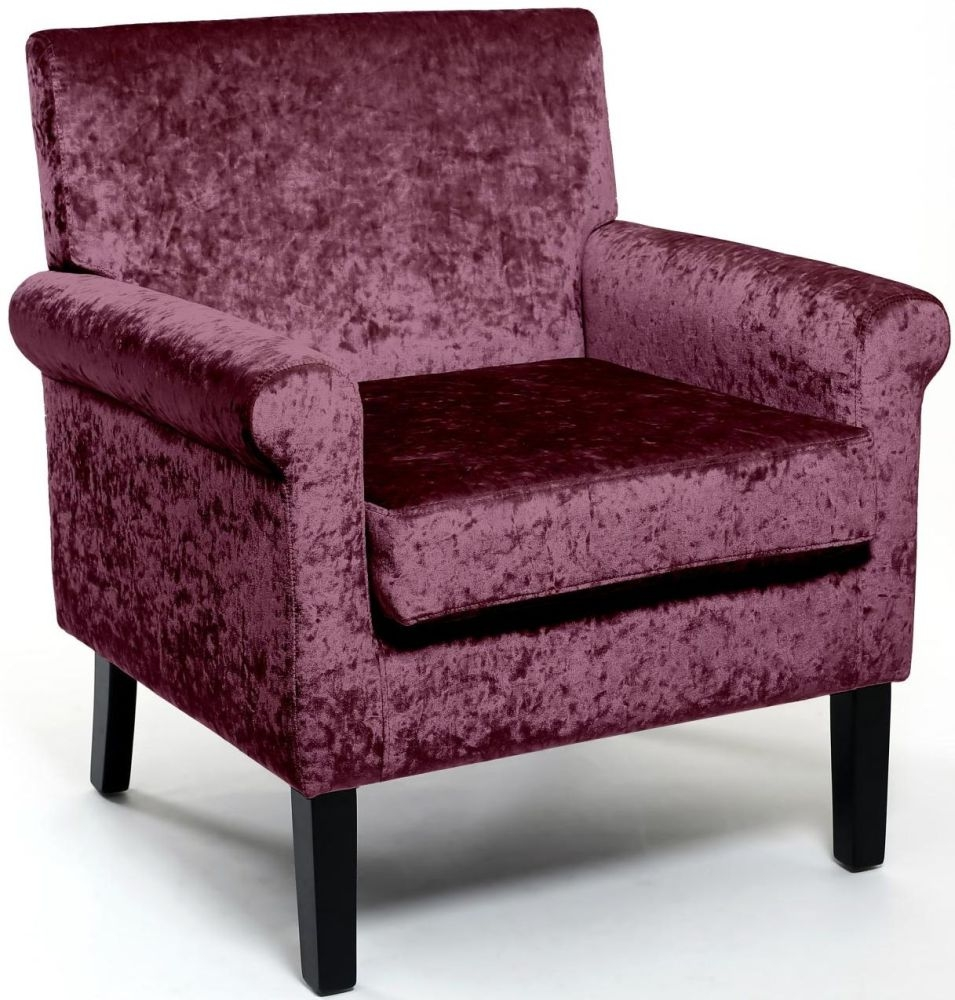 Shankar Hamilton Crushed Velvet Grape Armchairs