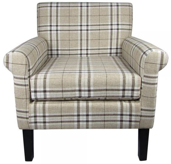 Shankar Hamilton Fabric Armchair - Check