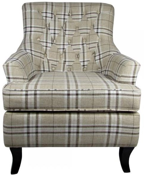 Shankar Jamestown Fabric Armchair - Check