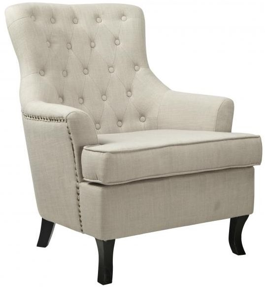 Shankar Jamestown Light Grey Fabric Armchair