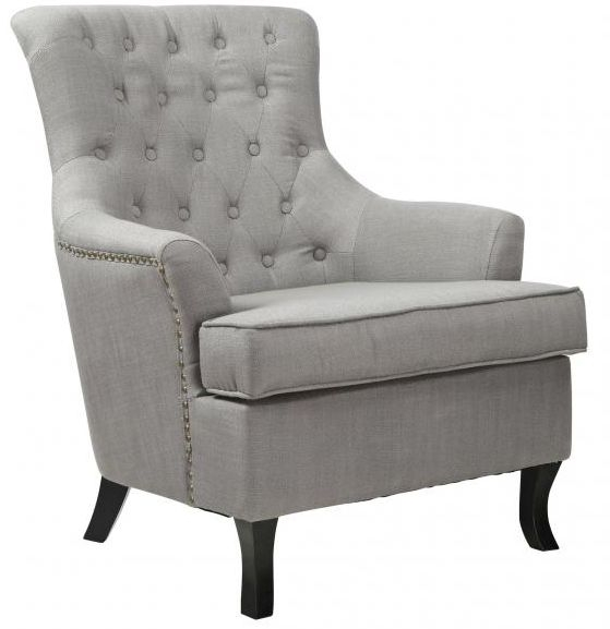 Shankar Jamestown Fabric Armchair - Slate Grey