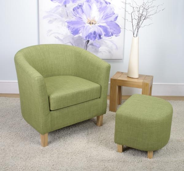 Shankar Linen Effect Tub Chair Set - Lime