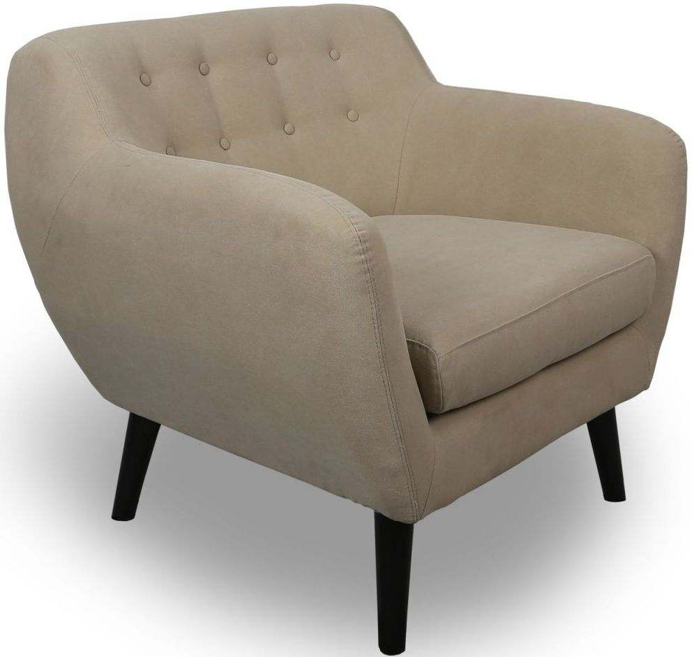 Shankar Natural Stonewash Contemporary Fabric Armchair