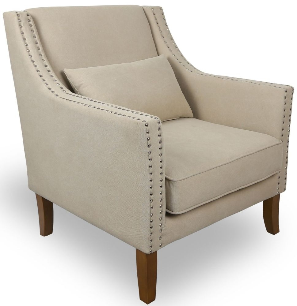 Shankar Natural Stonewash upholstery French Armchair