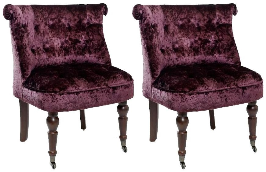 Shankar Shannon Crushed Velvet Chair - Grape