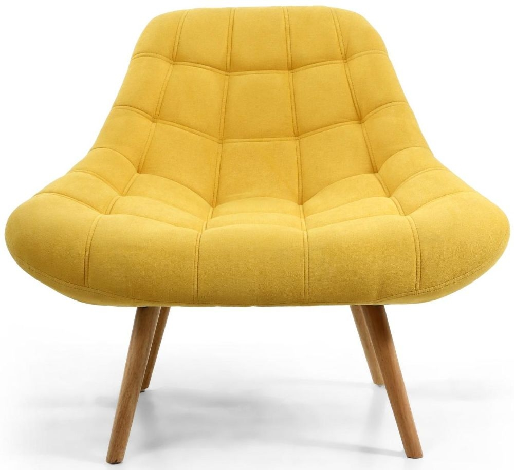 Shankar Shell Sunny Yellow Tufted Accent Armchair