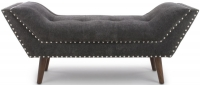 Shankar Mulberry Charcoal Fabric Medium Chaise