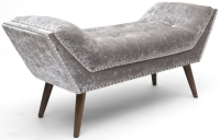 Shankar Mulberry Silver Crushed Velvet Medium Chaise