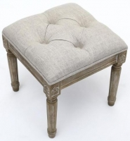 Shankar Taji White Single Footstool