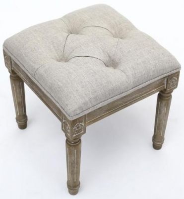 Shankar Taji Single Footstool - White