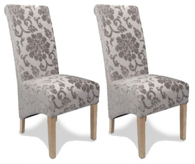 Shankar Krista Baroque Dining Chair - Mink All Over (Pair)