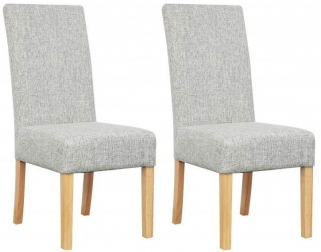 Shankar Salta Fabric Dining Chair - Grey Weave (Pair)