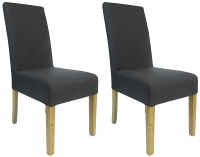 Shankar Salta Fabric Dining Chair - Charcoal (Pair)