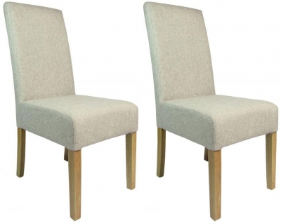 Shankar Salta Fabric Dining Chair - Natural (Pair)