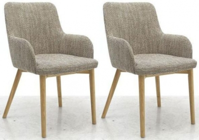 Shankar Sidcup Dining Chair - Tweed (Pair)