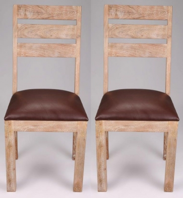 Shankar Storm Solid Dining Chair - Acacia (Pair)
