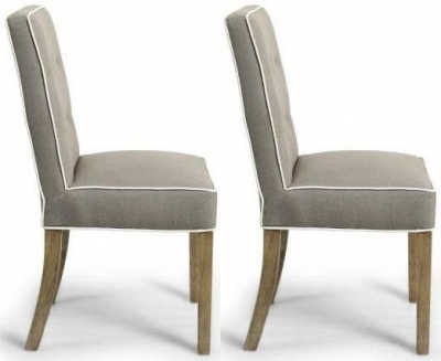 Shankar Vorno Dining Chair- Fawn (Pair)