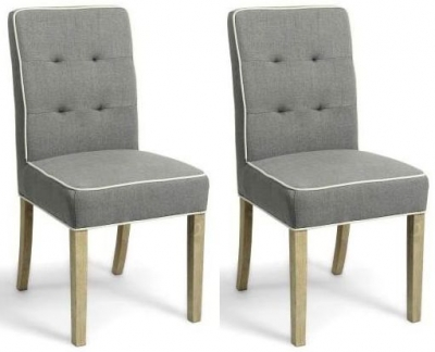 Shankar Vorno Dining Chair- Grey (Pair)