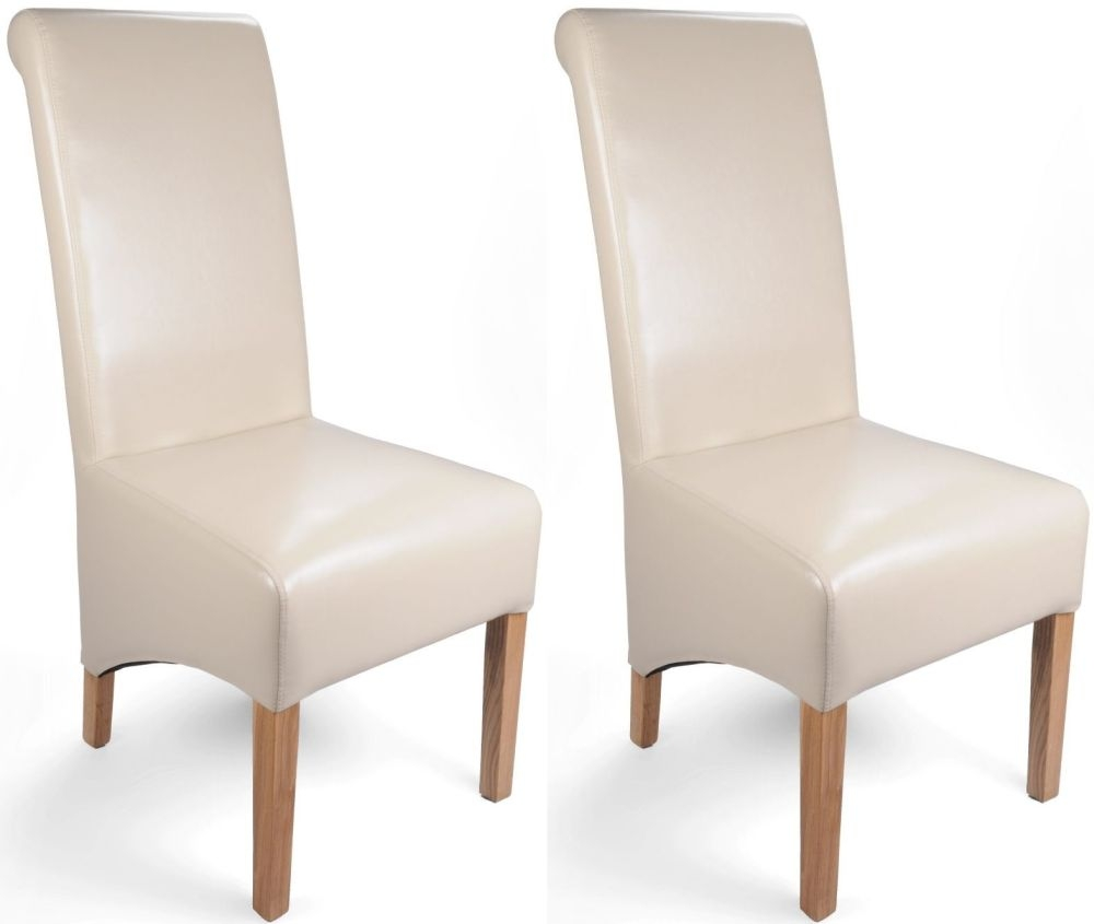 Ivory Leather Dining Room Chairs: Buy Shankar Ivory Krista Bonded Leather Dining Chair (Pair) Online