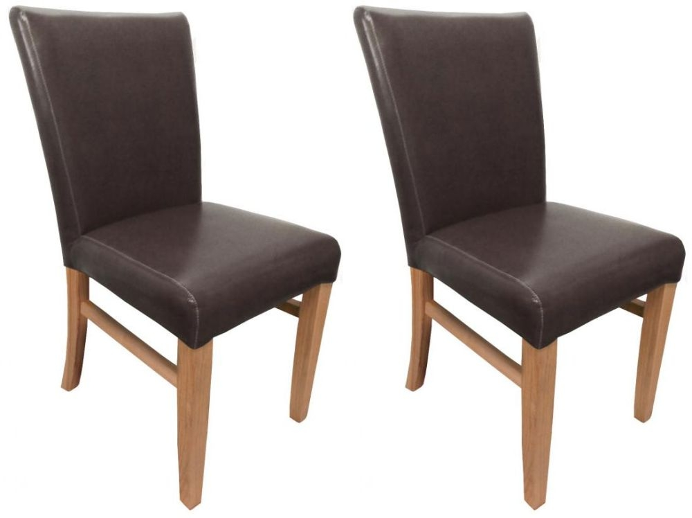 Shankar Jacob Bonded Leather Dining Chair - Brown (Pair)