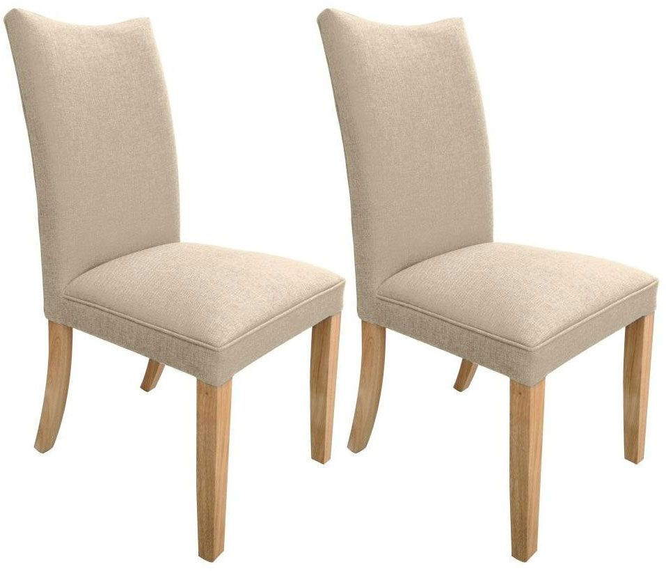 Shankar Jessica Fabric Dining Chair - Natural (Pair)