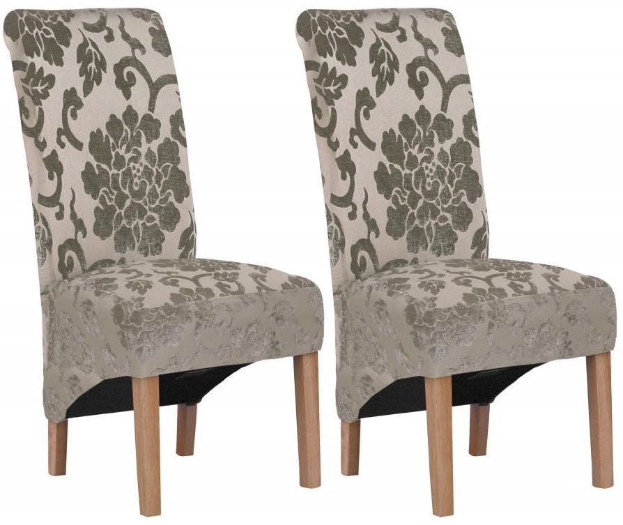 Shankar Krista Baroque Dining Chair - Mink (Pair)